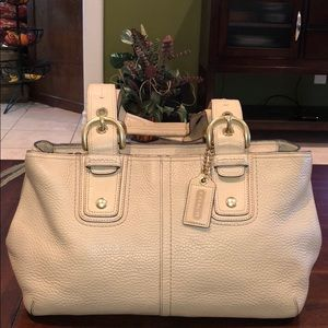Coach Soho Collection Pebbled Leather Ivory